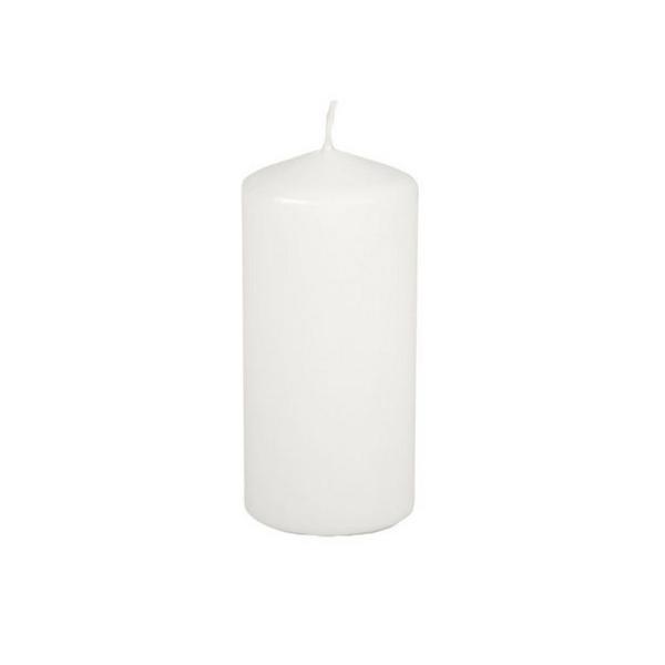 Bougie blanche diamètre 50 mm x haut. 100 mm, durée de vie 16h - Photo n°1