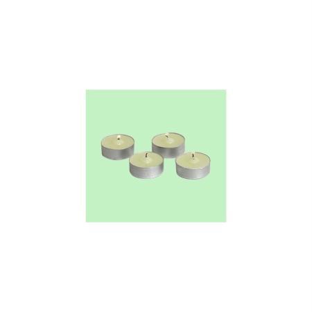Bougie chauffe-plat, sans odeur, &Oslash 3,5 cm x H 1,5 cm, lot de 4 - Lealoo