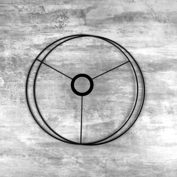 Set d'Ossature Noir diamètre 30cm pour suspension ou abat-jour, Anneaux ronds en Epoxy noir, pour do - Photo n°1
