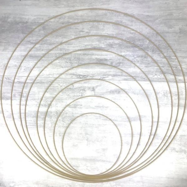 Lot 8 très grands Cercles métal Doré ancien Ø 30 cm à 100 cm, Anneaux en Epoxy pour Attrape rêves, a - Photo n°1
