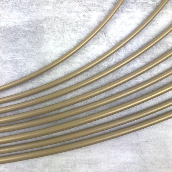 Lot 7 grands Cercles métal Doré ancien Ø 30 cm à 90 cm, Anneaux en Epoxy pour Attrape rêves, abat-jo - Photo n°2