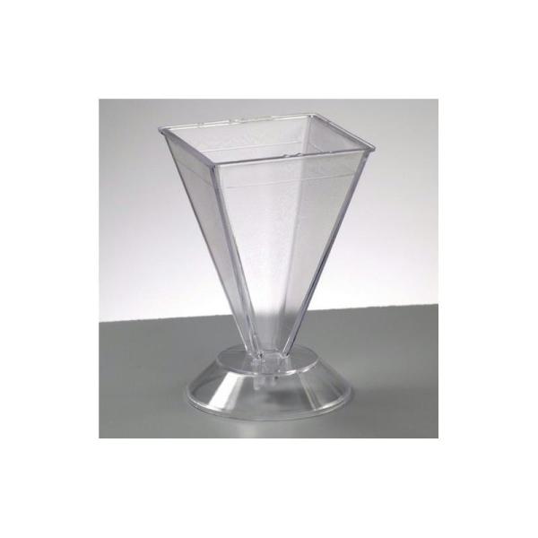 Moule Pyramide en plastique pour créer des bougies, 105 x 67 x 67 mm - Photo n°1