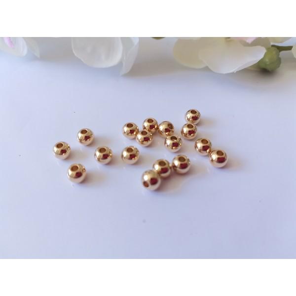 Perles acier inoxydable doré 6 mm x 10 - Photo n°1