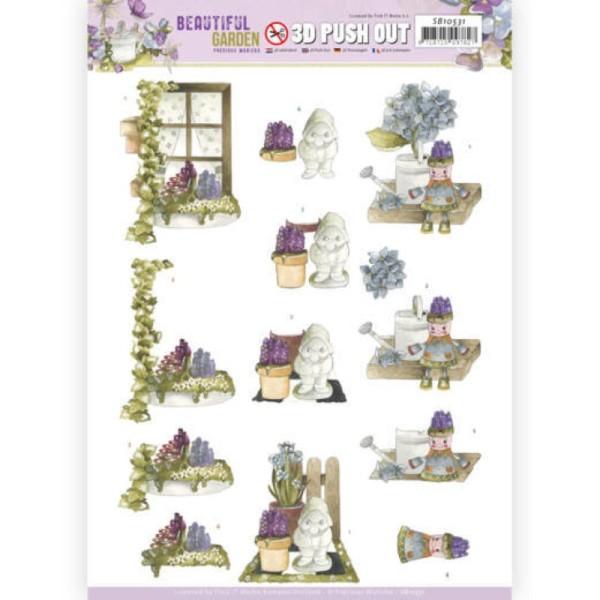 Carte 3D prédéc. - SB10531 - Beautiful garden - Nain de jardin - Photo n°1