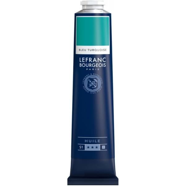 Peinture à l'huile fine 150ml Bleu turquoise Lefranc & Bourgeois - Photo n°1