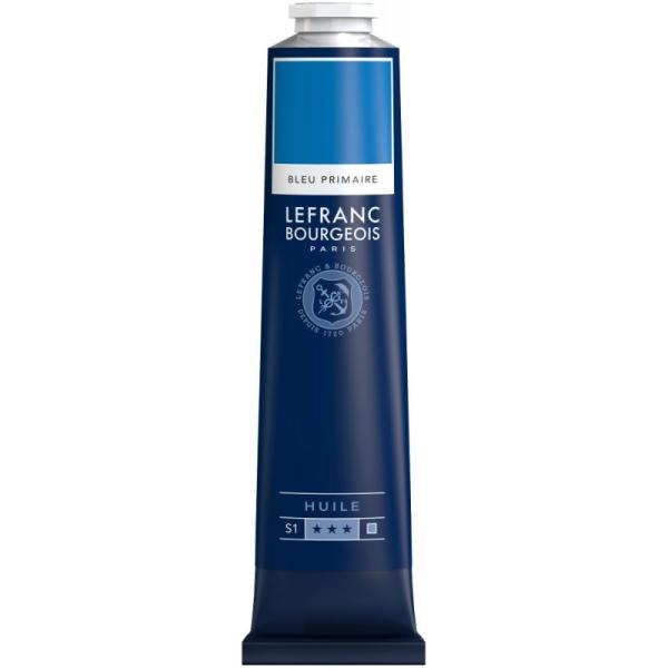 Peinture à l'huile fine 150ml Bleu primaire Lefranc & Bourgeois - Photo n°1