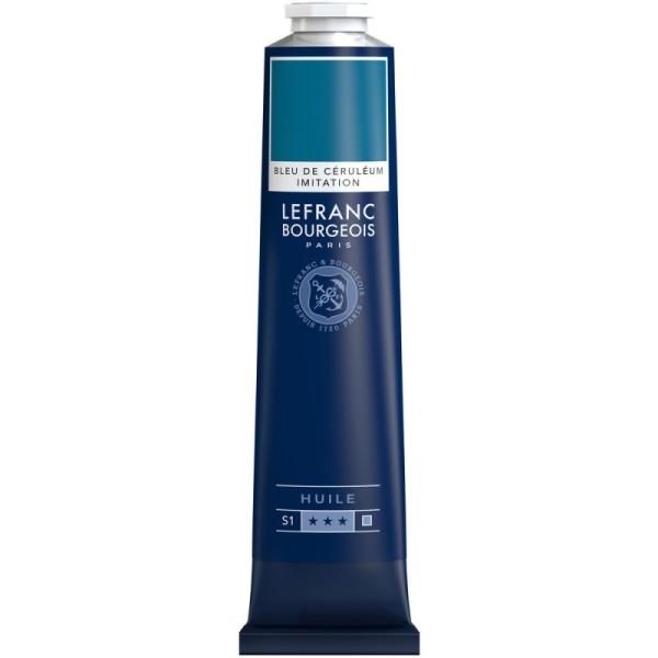 Peinture à l'huile fine 150ml Bleu de ceruleum imit. Lefranc & Bourgeois - Photo n°1