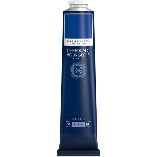 Peinture à l'huile fine 150ml Bleu de cobalt imit. Lefranc & Bourgeois - Photo n°1