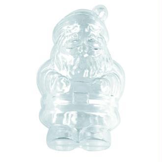 Père Noël en plastique cristal alimentaire séparable, hauteur 13 cm, Contenant s&