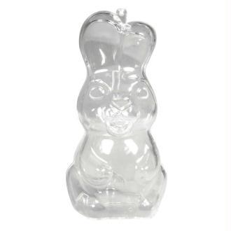 Lapin à suspendre, plastique transparent cristal séparable, H. 13,5 cm, Contenant s&ea