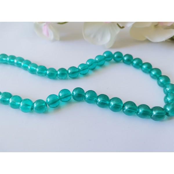 Perles en verre 8 mm brillantes vertes x 20 - Photo n°1