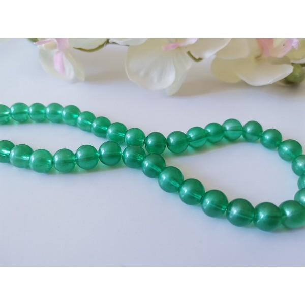 Perles en verre 8 mm opaque verte x 20 - Photo n°1
