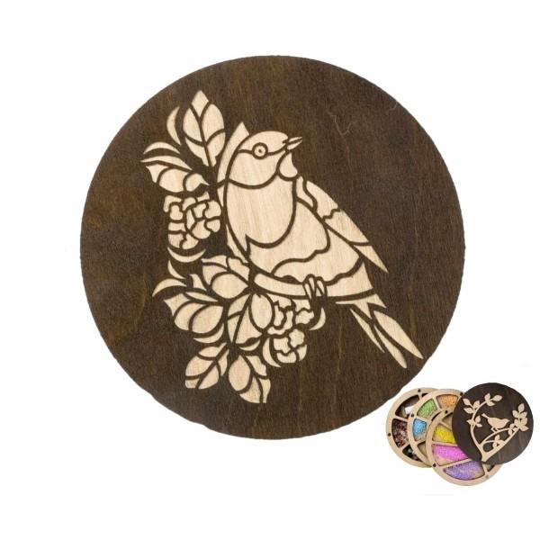 1 pc Personnalisé Perle Organisateur Partie Pour Le Choix, Oiseau Fleurs Couverture En Bois Perles O - Photo n°1