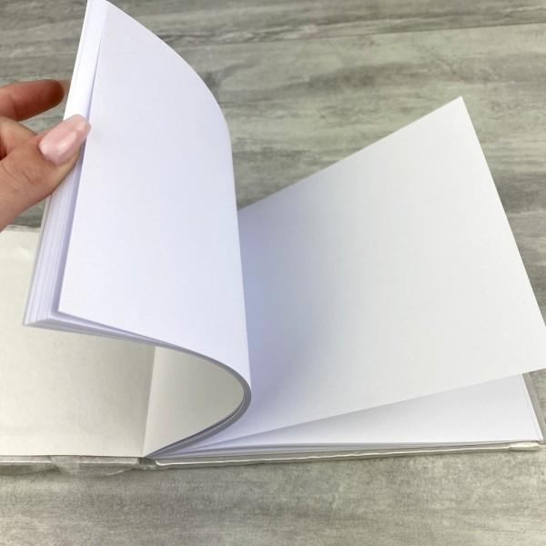 Livre d'Or de Mariage en satin ivoire et tulle, 21 cm, Album Photo avec pétales - Photo n°3