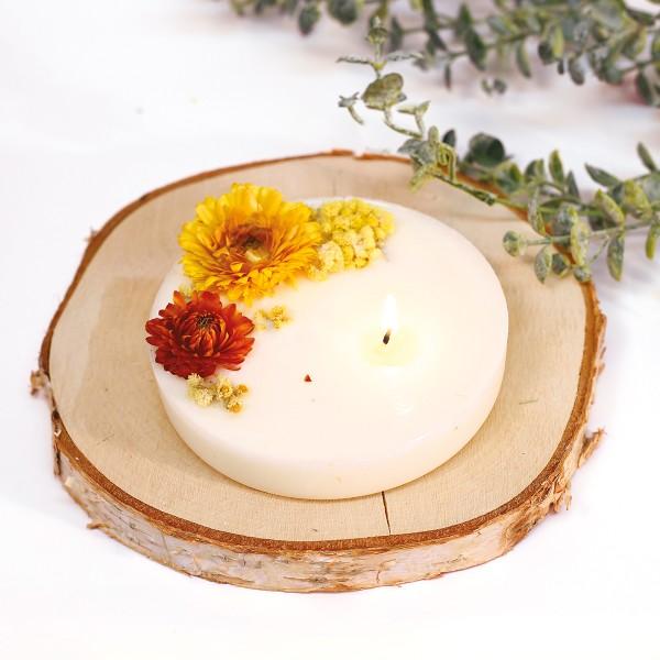 Kit DIY Bougie Florale - Fleurs séchées - Photo n°2