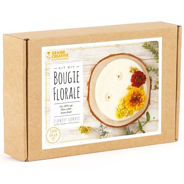 Kit DIY Bougie Florale - Fleurs séchées - Photo n°1