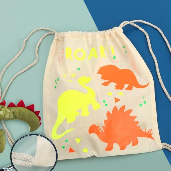 Kit DIY - Customiser mon petit sac - Dino - Photo n°2
