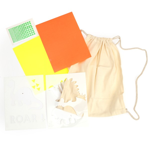 Kit DIY - Customiser mon petit sac - Dino - Photo n°3