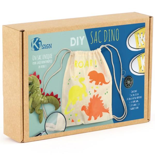 Kit DIY - Customiser mon petit sac - Dino - Photo n°1