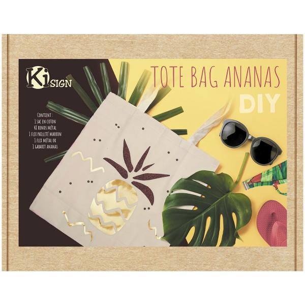 Kit DIY - Customiser un tote-bag - Ananas - Photo n°4