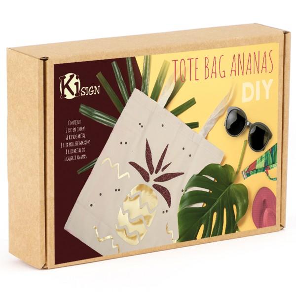 Kit DIY - Customiser un tote-bag - Ananas - Photo n°1
