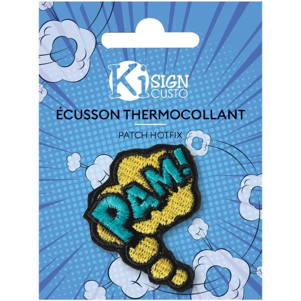 Écusson brodé thermocollant - Pam BD - 4,5 x 5 cm - Photo n°1