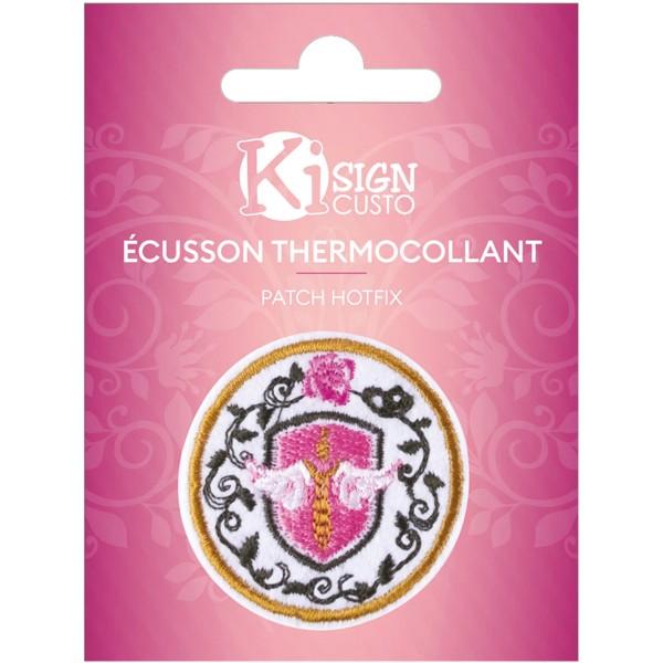 Écusson brodé thermocollant - Blason - Ø 5,5 cm - Photo n°1