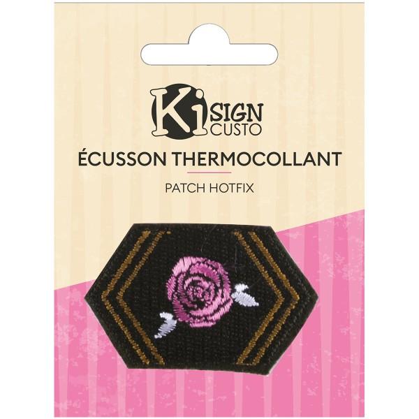 Écusson brodé thermocollant - Armée rose - 5,2 x 3,4 cm - Photo n°1