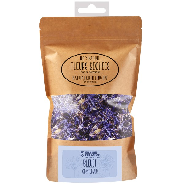 Fleurs Séchées en sachet - Bleuet - 10 g - Photo n°1