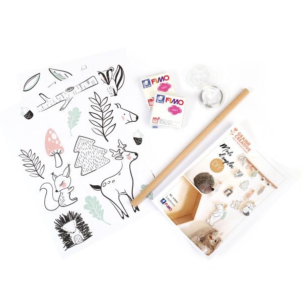 Kit DIY Fimo - Suspensions pour chambre d'enfant - 30 x 50 - Photo n°3