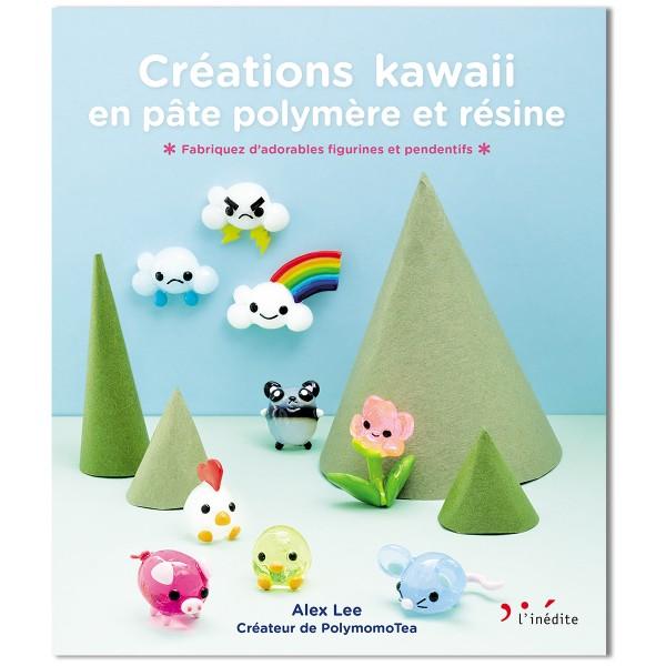 Livre - Créations Kawaii en pâte polymère et résine - 143 pages - Photo n°1