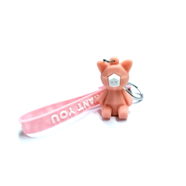 PORTE CLEF cochon rose - Photo n°1