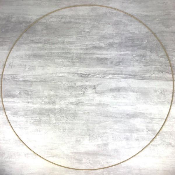 Très Grand Cercle XXL métallique Doré ancien, diam. 100 cm pour abat-jour, Anneau epoxy Or Attrape r - Photo n°1