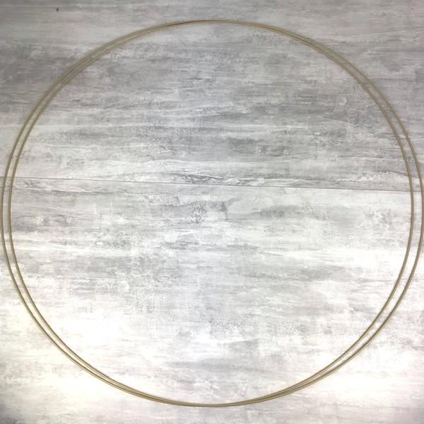 Lot de 2 Grands Cercles XXL métallique Doré ancien, diam. 100 cm pour abat-jour, Anneaux epoxy Or At - Photo n°1