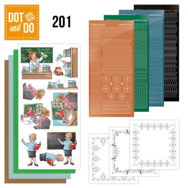 Dot and do 201 - kit Carte 3D - Professions - Photo n°1