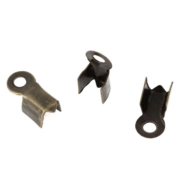 20 Embouts Cache Noeuds A Ecraser Metal Bronze 9mm x 4mm Creation Bijoux - Photo n°1