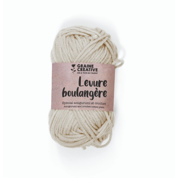 Crochet Amigurumi Beige Fil de Coton - 27 g - Photo n°1