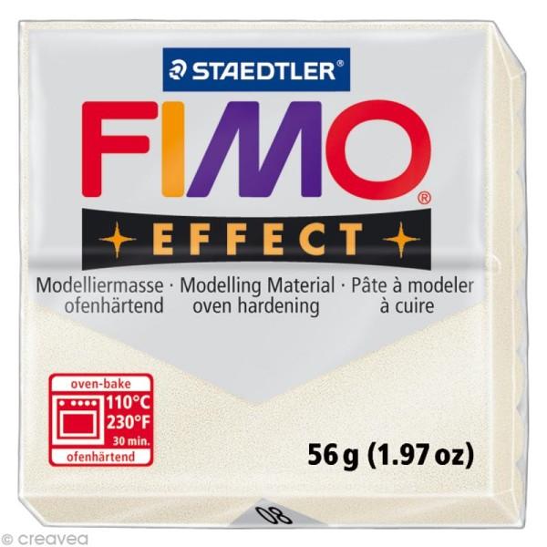 Pâte Fimo Effect Blanc Métallique nacré 08 - 56 gr - Photo n°1