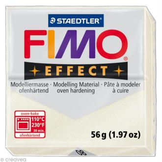 Pâte Fimo Effect Blanc Métallique nacré 08 - 56 gr