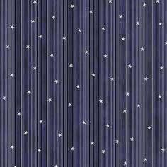 Tissu Coton Noël - Rayures & Étoiles - Bleu - Vendu par 10 cm