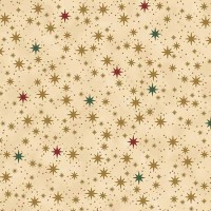Tissu Coton Noël - Ciel étoilé - Vendu par 10 cm