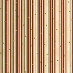 Tissu Coton Noël - Rayures & Étoiles - Doré - Vendu par 10 cm