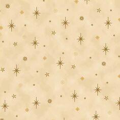 Tissu Coton Noël - Étoiles - Vendu par 10 cm