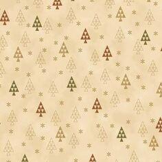 Tissu Coton Noël - Sapins - Vendu par 10 cm