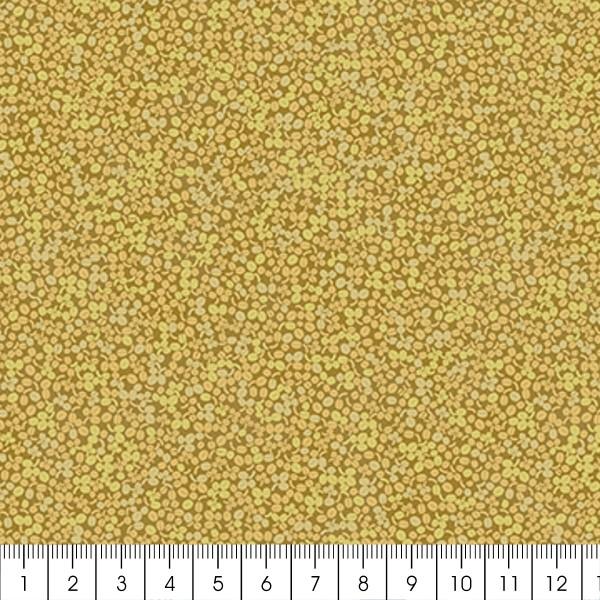 Tissu Toile de coton - Mini feuilles de buis - Par 10 cm (sur mesure) - Photo n°2