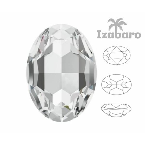 4 pcs Izabaro Cristal Cristal 001, Ovale Fantaisie Pierre, Cristaux de Verre, 4120 Izabaro Chaton Fa - Photo n°2