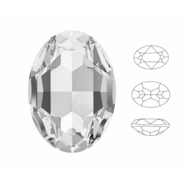 4 pcs Izabaro Cristal Cristal 001, Ovale Fantaisie Pierre, Cristaux de Verre, 4120 Izabaro Chaton Fa - Photo n°1