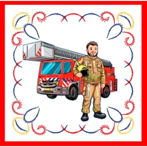 Stitch and do 156 - kit Carte 3D broderie - Les pompiers - Photo n°4