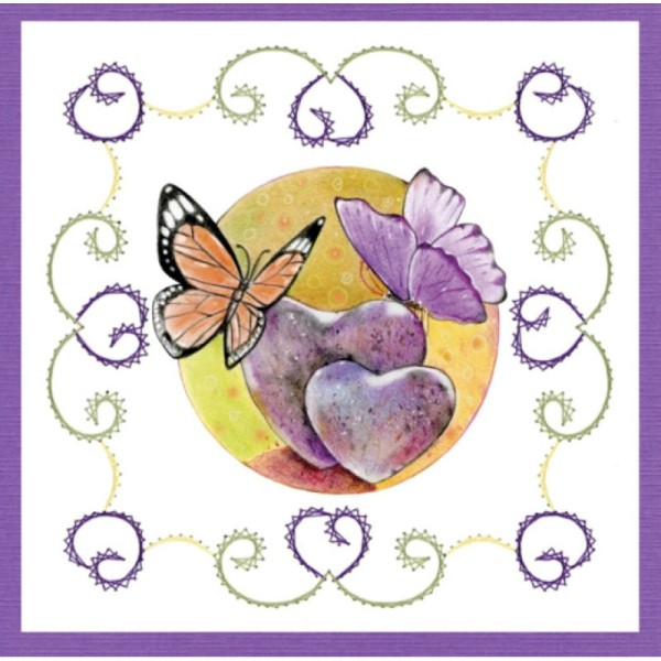 Stitch and do 157 - kit Carte 3D broderie - Les papillons - Photo n°2