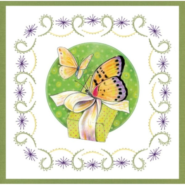 Stitch and do 157 - kit Carte 3D broderie - Les papillons - Photo n°3